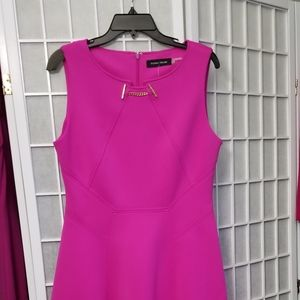 Hot pink or magenta flared Ivanka dress, size 12
